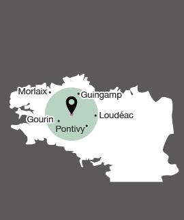 Carte centre Bretagne